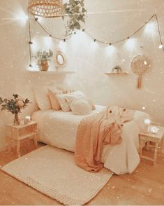 Cute Bedroom Decor, Bedroom Decor For Teen Girls, Cute Bedroom Ideas, Girl Bedroom Designs, Teen Room Decor, Stylish Bedroom, Room Ideas Bedroom, Small Room Bedroom, Attic Bedroom Ideas For Teens