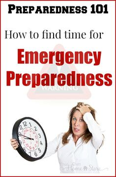 You CAN make time for e-prep!  It is important.  Find how to fit it into your life.  http://www.yourownhomestore.com/find-time-for-e-prep/