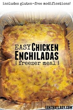 These Chicken Enchiladas are a family favorite! It's a good thing too since they're so easy! This recipe also includes GLUTEN FREE modifications!