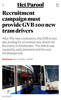 March 9th, New Drivers, Conductors, Amsterdam, Campaign, News