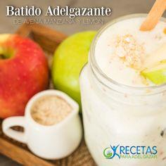#Batido adelgazante de avena manzana y limón.