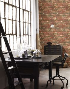 West End Brick Peel and Stick Wallpaper NU2088