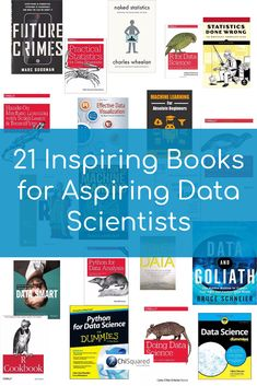 21 inspiring books for aspiring data scientists big pin with books