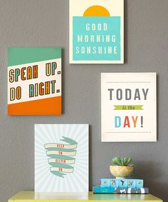 Today is the Day Print Set   zulily