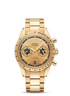 Speedmaster '57 OMEGA Co-Axial Chronograph 41.5mm - 331.10.42.51.02.002 | OMEGA® Rory Mcilroy, Omega Speedmaster, Omega Co Axial, 3 O Clock, Clocks, Nato Strap, Stainless Steel Case, Red Gold, Gold Watch