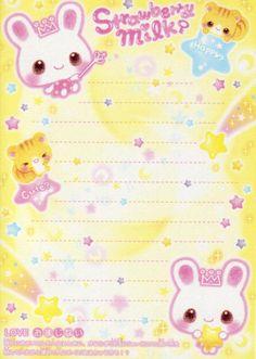 Kawaii colorful memo paper - Strawberry Milk