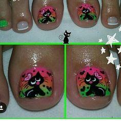 ♥ Animal Nail Designs, Nail Art Designs, 0 Calorie Foods, Cute Pedicures, Feet Nails, Nail Shop, Toe Nail Art, Stylish Nails, Manicure