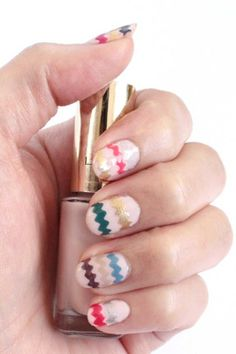 easter nail designs - Zig Zag Decal