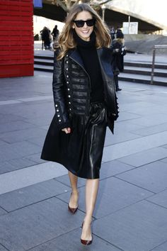 Olivia Palermo out during Fashion Week in London. See all of the model's best looks.