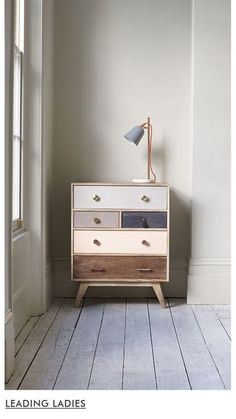 Oliver Bonas: Keira Wooden Chest of Drawers Retro Furniture, Paint Furniture, Upcycled Furniture, Furniture Projects, Furniture Makeover, Bedroom Furniture, Furniture Design, Bedroom Decor, Bedroom Drawers