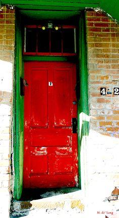Red Door Photograph Barrio Viejo Tucson Arizona