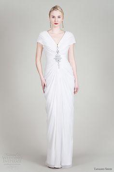 tadashi-shoji-fall-2012-chiffon-draped-v-neck-cap-sleeve-wedding-dress-octavia