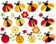 Clipart-ladybugs-Red-760x600.jpg (760×600)