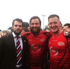 Henry e jogadores do time de Rugby de Jersey. Siam Cup 2015.