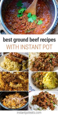 Pressure Cooker (or Stovetop) Pinto Bean and Ground Beef Stew with Cumin  and Cilantro
