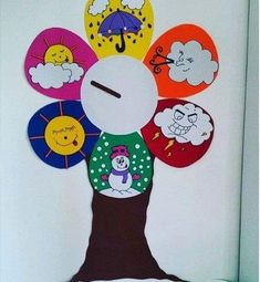 This Pin was discovered by Rum Classroom Charts, Classroom Displays, Preschool Classroom, Classroom Decor, Preschool Activities, Preschool Learning, Preschool Shapes, Preschool Weather, Weather Crafts