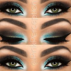 Owners of dark green eyes will be fascinated by make-up ideas that enhance and complement your beautiful eye color. A variety of eyeshadows and eyeliner awaits you for your exploration. Makeup 101, Cute Makeup, Gorgeous Makeup, Pretty Makeup, Makeup Ideas, Makeup Tutorials, Makeup Hacks, Makeup Goals, Makeup Trends