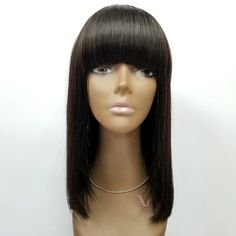 Bangs Wigs With Bob Natural Hair Front Lace Wigs Malaysia Vrigin Hair Mom Hairstyles, Short Bob Hairstyles, Black Hairstyles, Hairdos, Short Hair Wigs, Wigs With Bangs, Front Hair Styles, Wig Styles, Bob Lace Front Wigs