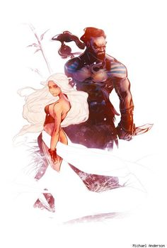 Daenerys and Drogo by Michael Anderson