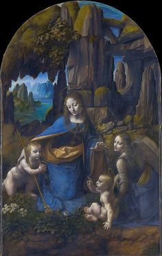 Madonna of the Rocks Leonardo Da Vinci, many of his works were never completed, A.D.D. has been around for a long time. lol