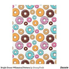 Bright Donut Whimsical Pattern Tablecloth