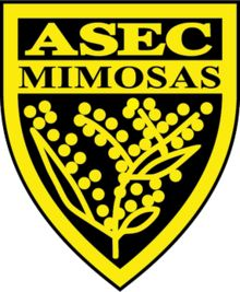 ASEC Mimosas of the Ivory Coast crest. Football Design, Football Team, Fifa, Caf Champions League, Jersey Atletico Madrid, Rangers Fc, Sporting, Sports Clubs, Monogram