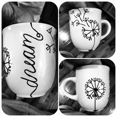 Sharpie, goodwill mug, baked at 350 for 30 minutes :)