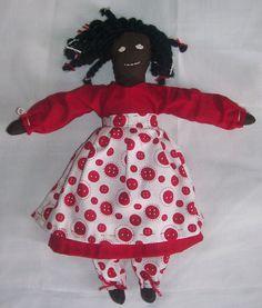 Black Americana Handmade Cloth Doll by ErsatzEmporium on Etsy, $15.00