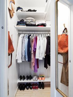 Small and Organised Closet.