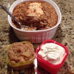 Peanut Butter Apple Baked Oatmeal - 21 Day Fix Baked Oatmeal Recipe