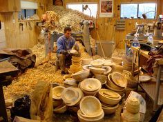 This is what I want my shop to look like. Bury me in shavings!!! Mike Mahoney Bowlmaker: January 2010