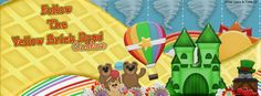 Facebook timeline banner using my kit A Beary Wonderful Wicked Oz.