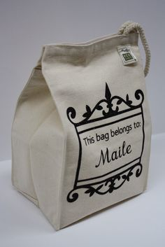 This bag belongs to: - Embellished Cotton Canvas Lunch Bag Best Tote Bags, Cute Tote Bags, Boite A Lunch, Rice Bags, Reusable Shopping Bags, Fabric Bags, Brown Bags, Travel Accessories, Cotton Tote Bags