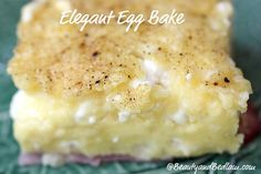 This melt in your mouth easy, yet elegant egg bake is sure to receive rave reviews from your company. Best part? It whips up in five minutes.