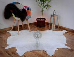 "Cowhide Rug Exotic Black/&White real Hair on Cow Hide Skin Area Rugs 26sq ft 5x4/"""