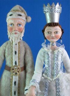 Santa and the Snow Queen by artist Allen Cunningham.
