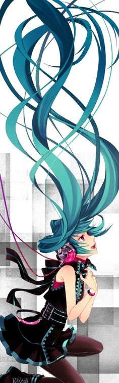 """Hatsune Miku (Vocaloid)""when i see you i feel like i can't breath ...feels like i'm under water ...witch i can't Shout for HELP,,"