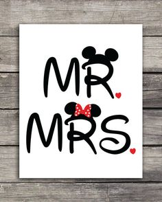 and Mrs. Mickey and Minnie Wedding Graphics-Use to print on shirts, mugs or any product of your choice. Great for your disneymoon! and Mrs. Mickey and Minnie Wedding Graphics use to print on t-shirts, mugs or a product of your - Mickey Mouse Kunst, Mickey Minnie Mouse, Tattoo Minnie, Mickey And Minnie Wedding, Wedding Graphics, Mug Art, Oui Oui, Transfer Paper, Disney Wallpaper