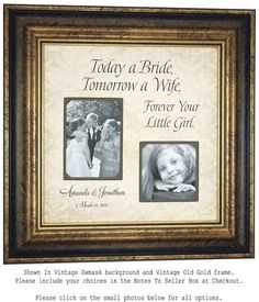 Personalized Picture Frame Wedding Photo by PhotoFrameOriginals
