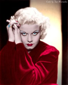 Jean Harlow as photographed by George Hurrell in 1935 #hollywoodpinups #JeanHarlow #silverscreen #oldhollywood #hollywood #classichollywood #vintagehollywood #hollywoodglamour #goldenera #colorenhanced #colorized #hollywoodcolor #hollywoodcolorist #photorestoration #vintagecolor #GoldenAgeOfHollywood