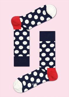 BIG DOT: Playful · Vivid · Strong. Both women and men look great in big dot socks with a blue background. White spots give these socks distinct character. Add in coziness and snugness, and big dot socks quickly become a favorite. Discover the warmth and comfort of combed cotton spun from the strongest materials. COMPOSITION: 80% Combed Cotton, 17% Polyamide, 3% Elastane. www.HappySocks.com