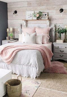 Mid-Winter Bedroom Facelift - # Check more at schlafzimmer. - Mid-Winter Bedroom Facelift – # Check more at bedroom. Room Ideas Bedroom, Home Bedroom, Diy Bedroom Decor, Bedroom Furniture, Design Bedroom, Bedroom Wardrobe, Bedroom 2018, Cottage Bedroom Decor, Pink Master Bedroom