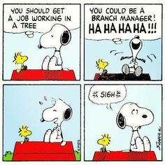 Snoopy makes a funny joke about Woodstock.