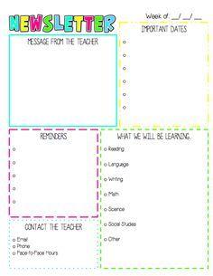 Best Preschool Images On Pinterest Newsletter Ideas Body - Newsletter planning template