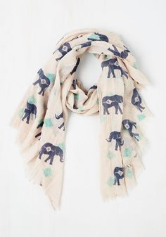 Got the Whole Pachyderm Scarf | Mod Retro Vintage Scarves | ModCloth.com