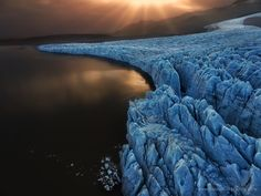 Glacier by GiorgosThalassinos frozen sunset light beautiful aerial waterfall glacier photography freeze workshop iceland reykjavik Landscape Photos, Landscape Photography, Nature Photography, Travel Photography, Photos Of The Week, My Photos, Some Pictures, Amazing Nature, Travel Photos