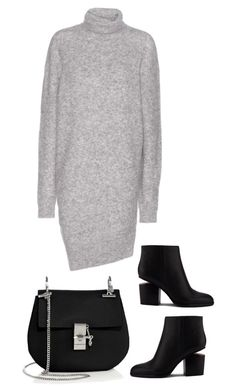 """""""Acne pullover knitdress"""" by lillyell on Polyvore featuring Acne Studios, Alexander Wang and Chloé"""