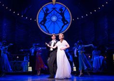 "Zach Braff and Betsy Wolfe in ""Bullets Over Broadway"""