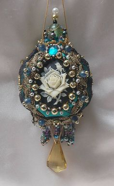 peacock blue ornament