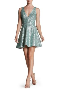 Main Image - Dress the Population 'Carrie' Sequin Fit & Flare Minidress